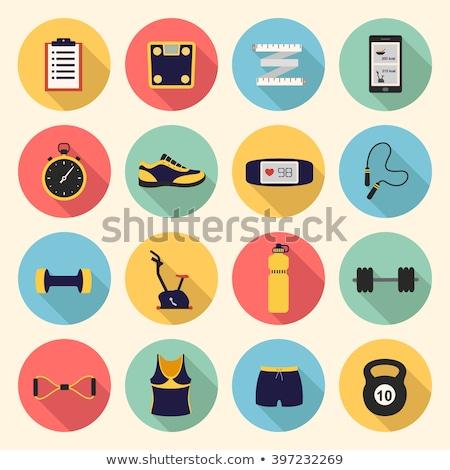 Pulsometer icon flat Stock photo © smoki