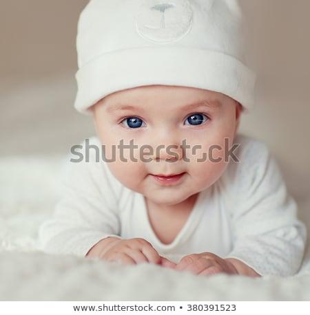 cozy cute smiling boy Stock photo © meinzahn