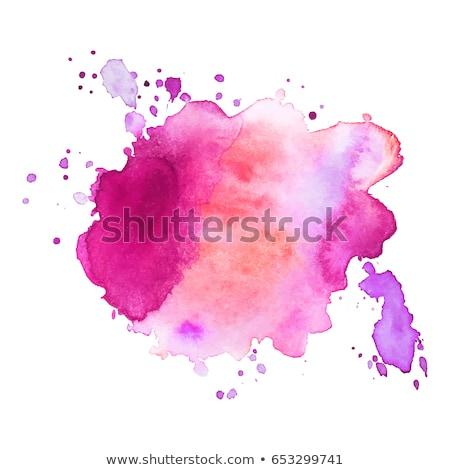 Kleurrijk splatter aquarel verf inkt water Stockfoto © SArts