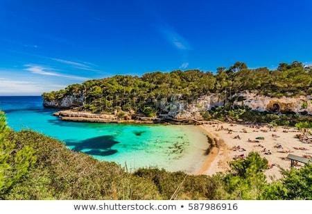 Middellandse zee kust Spanje golven zee landschap Stockfoto © pedrosala