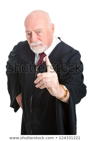 judge wags his finger as he lays down the law Stock photo © snowing