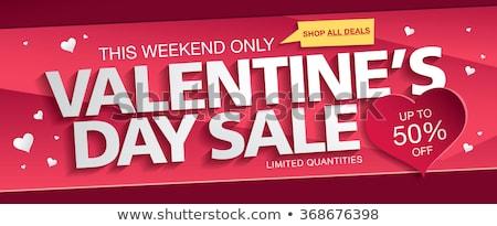Nagy vásár árengedmény négyszögletes szett piros Stock fotó © romvo
