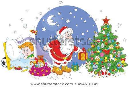 Dormir arbre de noël grand-père Noël nouvelle année Photo stock © popaukropa