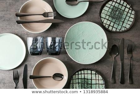 Stockfoto: Tafelgerei · illustratie · verschillend · monster · tekst · textuur