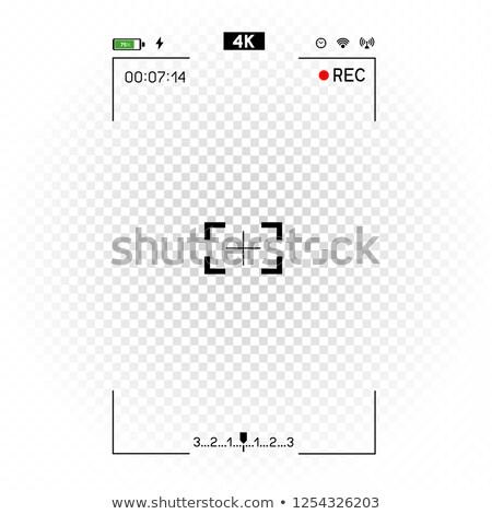 videókamera · átlátszó · döntés · nyílás · lyuk · fehér - stock fotó © romvo