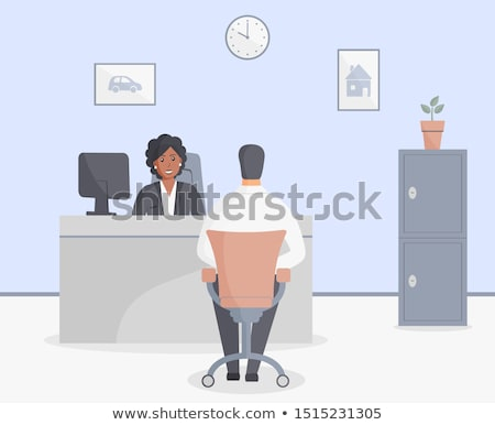 Black businessman sitting on bank safe Stock photo © studioworkstock