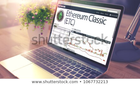 Dynamica kosten klassiek laptop scherm moderne Stockfoto © tashatuvango