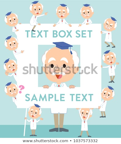 Research Doctor old men_text box Stock photo © toyotoyo