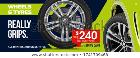 Black sports car realistic vector illustration Stock photo © YuriSchmidt