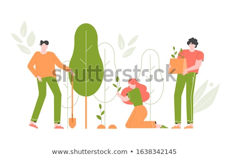Environment Day People Forest Vector Illustration Stock photo © robuart