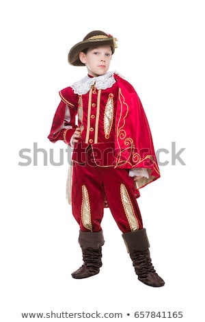 Little boy posing in musketeer suit Stock photo © acidgrey