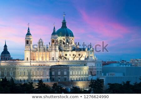 cathédrale · Madrid · Espagne · dôme · mariage · lumière - photo stock © boggy