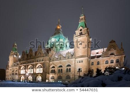 традиционный окна Германия мнение здании улице Сток-фото © boggy