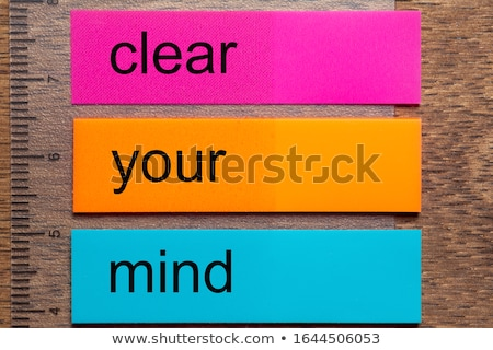 Clear Your Mind Stock photo © Lightsource