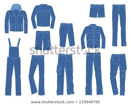 Férfi elegáns kabát farmernadrág üzlet karakter Stock fotó © robuart