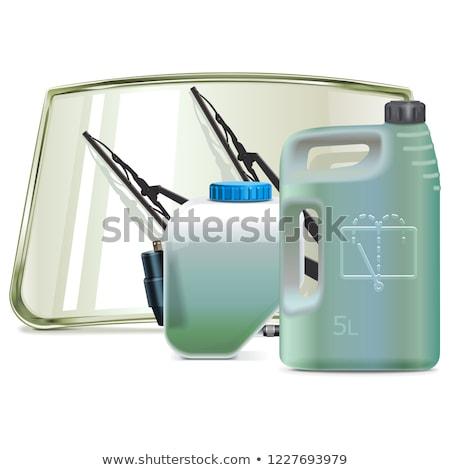 Vetor carro pára-brisas limpeza fluido Foto stock © dashadima