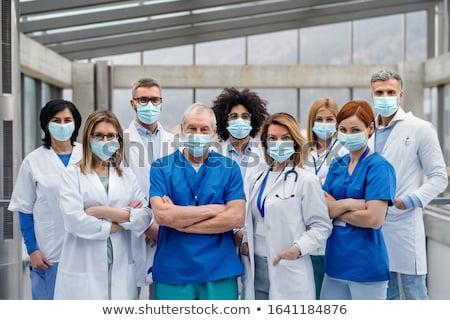 médico · equipe · retrato · dois · médico · hospital - foto stock © minervastock