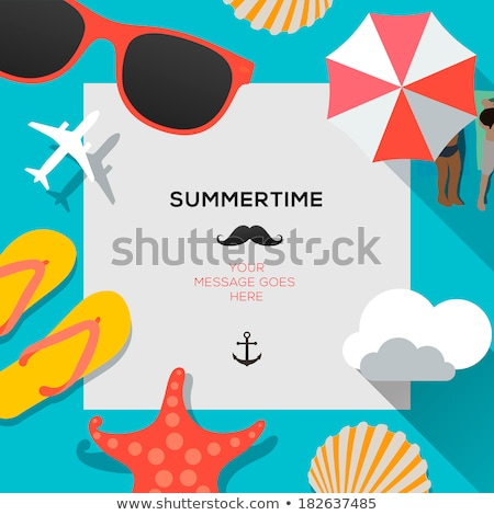 summer holidays beach sign symbol Stock photo © vector1st