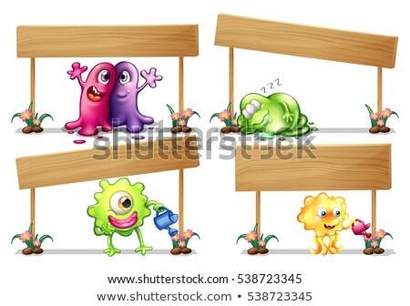Modello cute mostri illustrazione sfondo Foto d'archivio © colematt