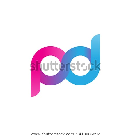 pd letter p and d purple logo vector icon Stock photo © blaskorizov
