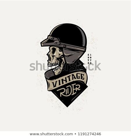 kafatası · kask · kroki · İngiliz · anahtarı · piston - stok fotoğraf © netkov1