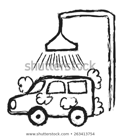Lomtár kézzel rajzolt skicc firka ikon autó Stock fotó © RAStudio