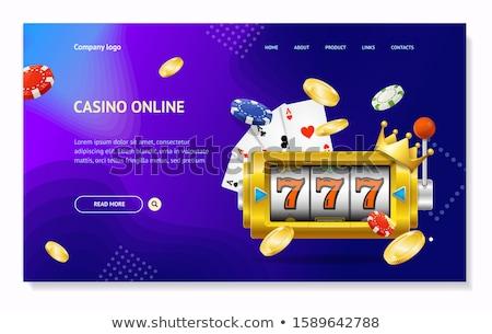 vector · landing · pagina · sjabloon · tabel · online - stockfoto © rastudio