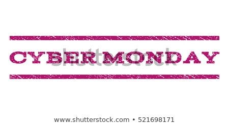 Color vintage cyber monday emblem Stock photo © netkov1