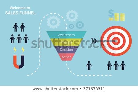 Verkoop trechter vector icon geïsoleerd witte Stockfoto © smoki