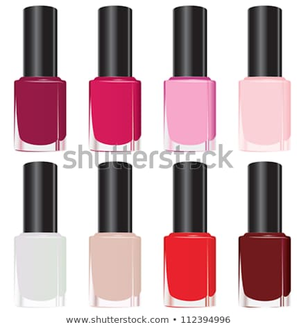 Collection Bottles With Nail Polish Set Vector Stock photo © pikepicture