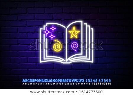 lezing · boek · encyclopedie · leerboek · icon · man - stockfoto © anna_leni