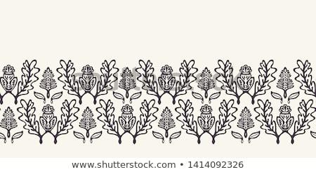Scottish Thistle With Ribbon Drawing Black and White Stock photo © patrimonio