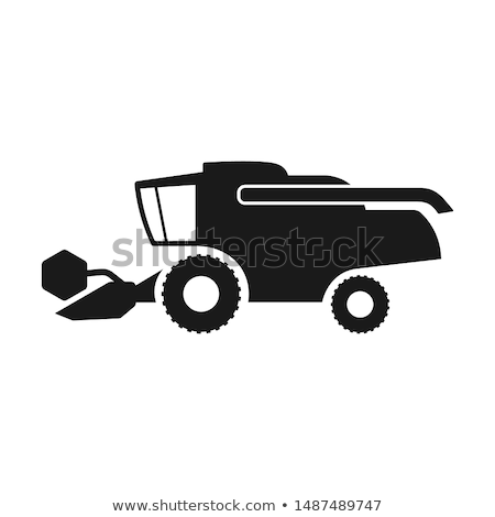 farming car harvesting combine machine vector stock photo © robuart