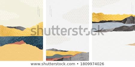 пустыне реке гор закат пейзаж Сток-фото © diomedes66