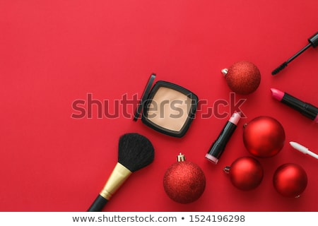 ストックフォト: Make Up And Cosmetics Product Set For Beauty Brand Christmas Sal