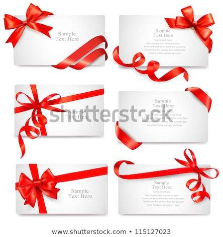 Gift with Red Ribbon and Bow, Present Icon Vector Stock photo © robuart