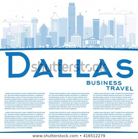 Dallas horizonte azul edificios espacio de la copia Foto stock © ShustrikS