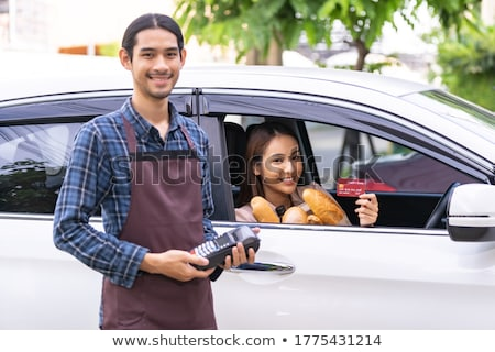 Delivery grocery bag with Drive Thru supermarket Stock photo © vichie81
