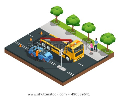 Car Crash Accident Isometric Icons Set Vector Stock photo © pikepicture
