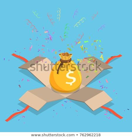 Pénz valuta ajándék izometrikus ikon vektor Stock fotó © pikepicture