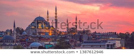 мечети Стамбуле Турция закат мнение здании Сток-фото © boggy