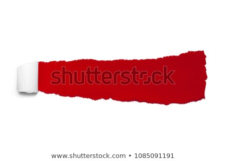 Red bent label or sticker over grey Stock photo © Arsgera