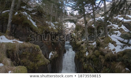 Stock photo: rushing river through narrow gorge