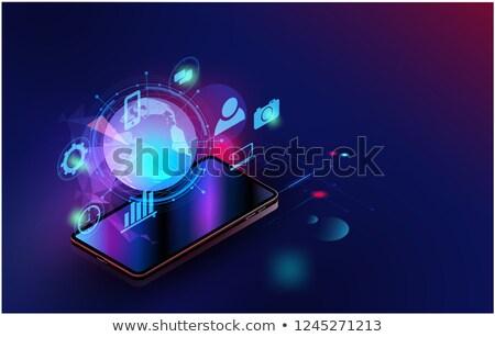 マルチメディア コンテンツ スマートフォン 男 携帯電話 電話 ストックフォト © adamr