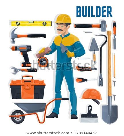 Mason drilling brick Stock photo © photography33