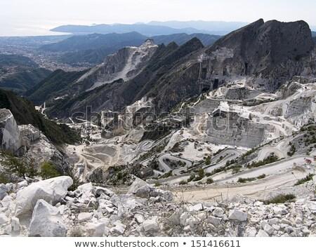 Mermer alpler Toskana İtalya inşaat manzara Stok fotoğraf © wjarek