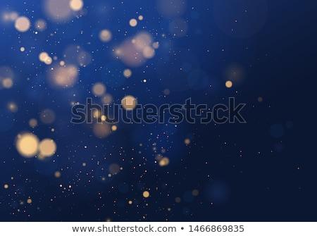 silver blue winter christmas bokeh stock photo © wenani