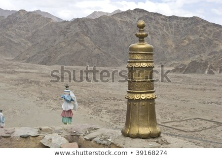 Latão telhado ornamento mosteiro montanha montanhas Foto stock © haraldmuc