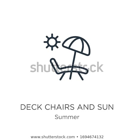 Sunning on Deck Stock photo © alexeys