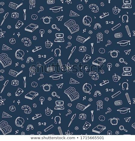 Seamless Doodle Science Pattern Stock fotó © YoPixArt